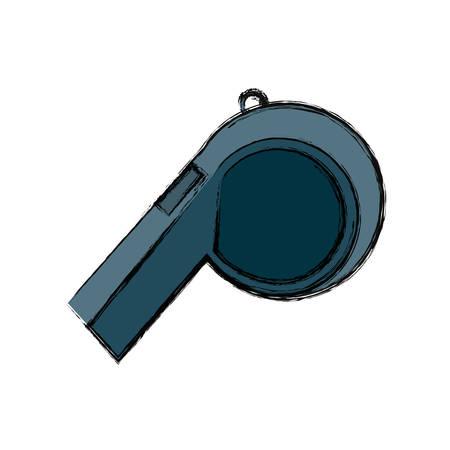 Sport whistle referee icon vector illustration graphic design