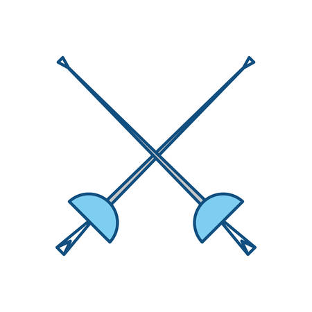Fencing sport word icon vector illustration graphic design
