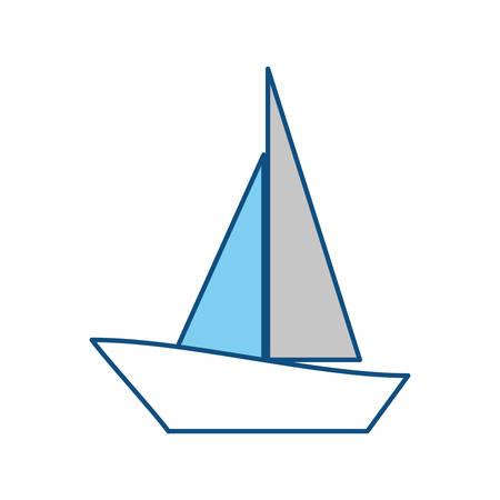 Sail boat symbol icon vector illustration graphic design
