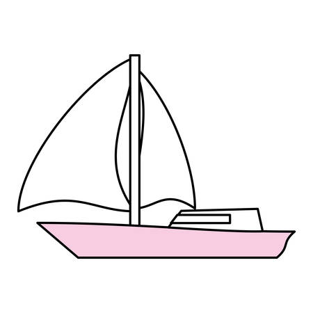 Sail boat symbol icon vector illustration graphic design