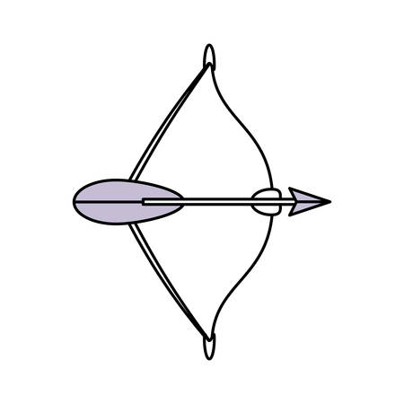 primeval: Arch bow arrow icon vector illustration graphic design