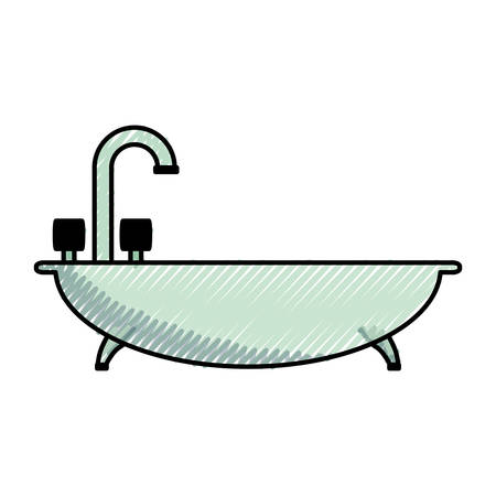 Bath symbol isolated over white background vector illustration