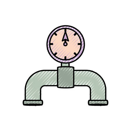 pipe plumbing symbol over white background vector illustration