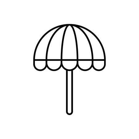 rainy season: beach parasol icon over white background vector illustration Illustration