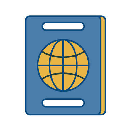 passport icon over white background vector illustration