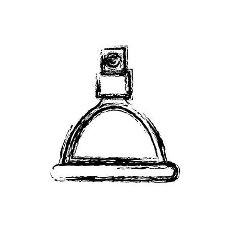 fragance bottle icon over white background vector illustration