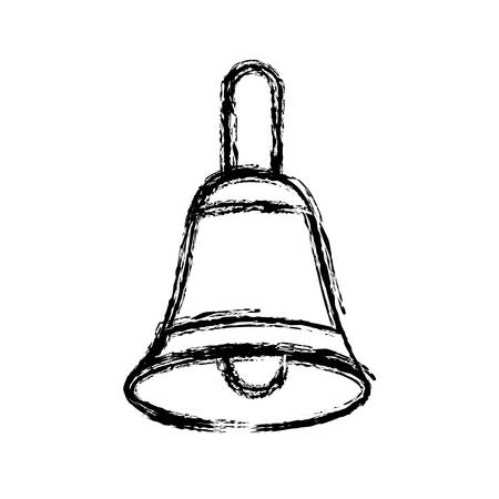 ring tones: bell icon over white background vector illustration