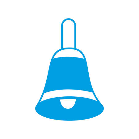 bell icon over white background vector illustration