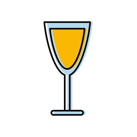 champagne celebration: champagne glass icon over white background vector illustration