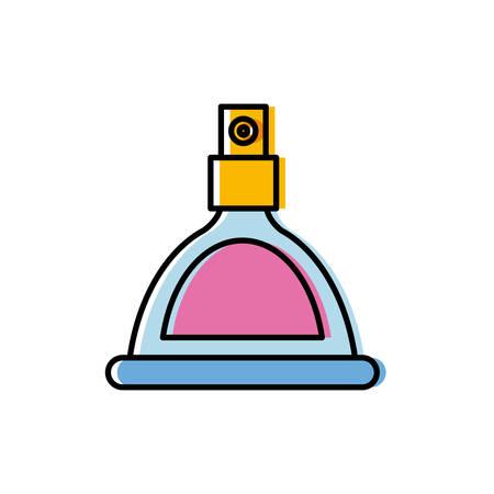 Fragrance bottle icon over white background vector illustration Illustration