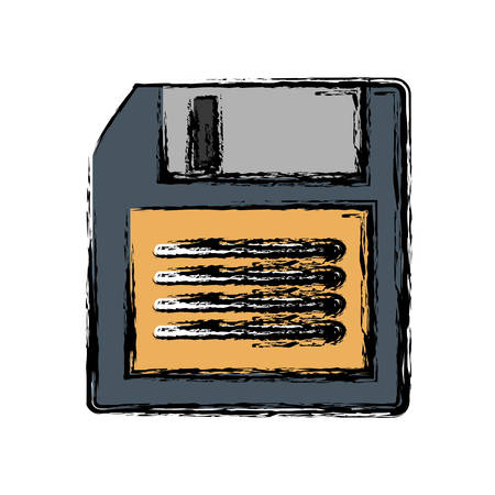 diskette icon over white background vector illustration Illustration