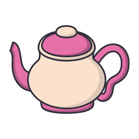 A tea pot icon over white background vector illustration.