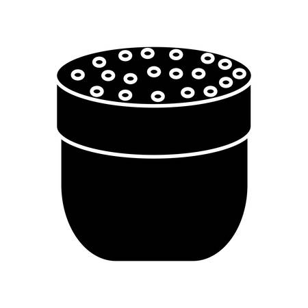 Condiments bottle icon over white background vector illustration