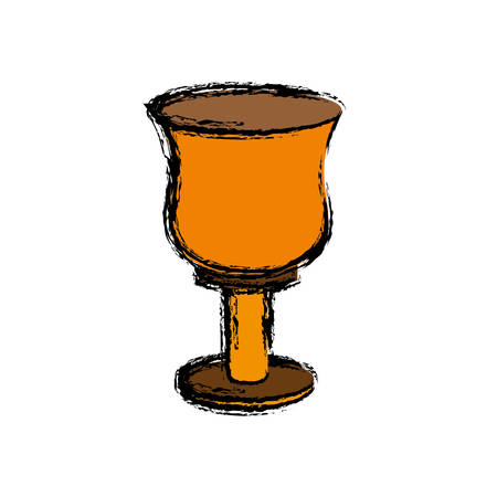 A holy grail icon over white background vector illustration Illustration