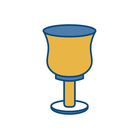 holy grail icon over white background vector illustration