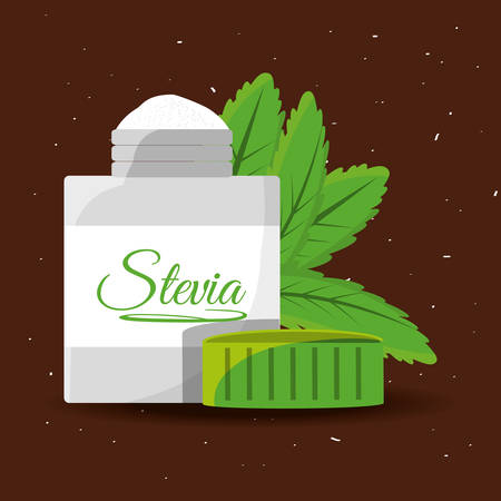 stevia natural sweetener packet product vector illustration Illustration
