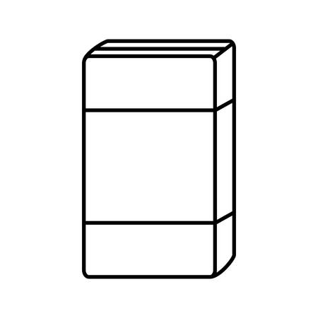 cereal box icon over white background vector illustration