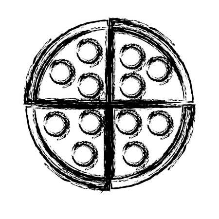 pizza icon over white background vector illustration Illustration