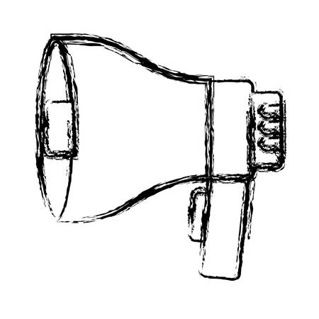 megaphone device icon over white background vector illustration