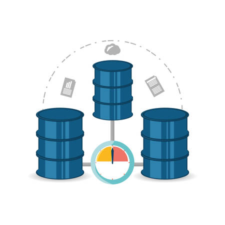 hardware: database information share document and files vector illustration