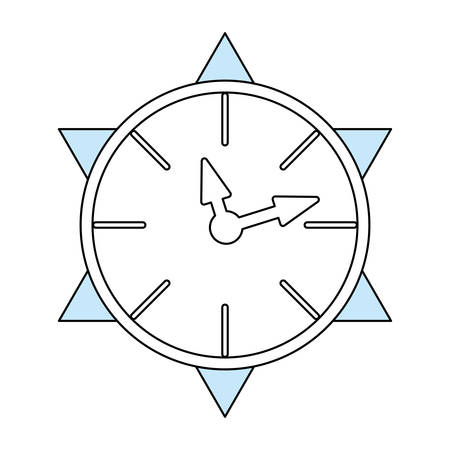 seconds: Clock time isolated icon vector illustration graphic design Illustration