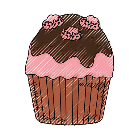 Cupcake sweet dessert icon vector illustration graphic design Illustration