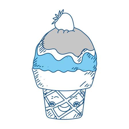 ice: Sweet ice cream icon vector illustration graphic design