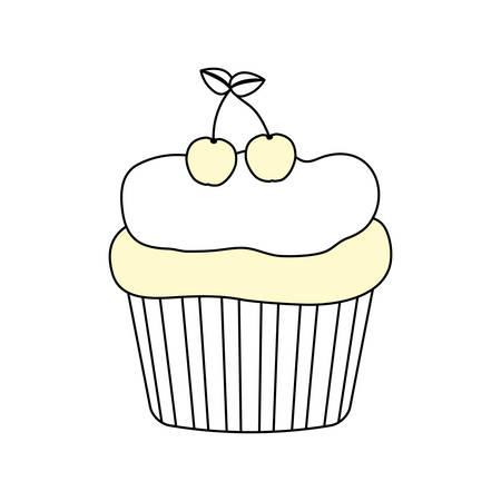 Cupcake sweet dessert icon vector illustration graphic design Illustration