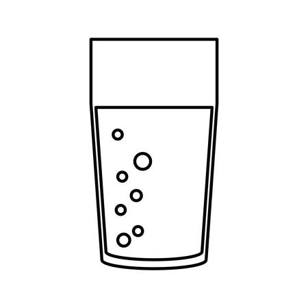 glass reflection: Juice glass cup icon vector illustration graphic design