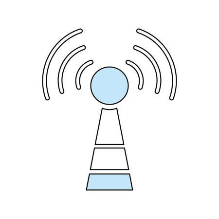 wireless communication: Wifi antenna symbol icon vector illustration graphic design Illustration