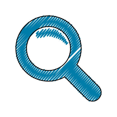 Magnifying glass isolated icon illustration graphic design.