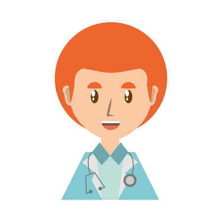 Doctor profile cartoon icon vector illustration graphic design