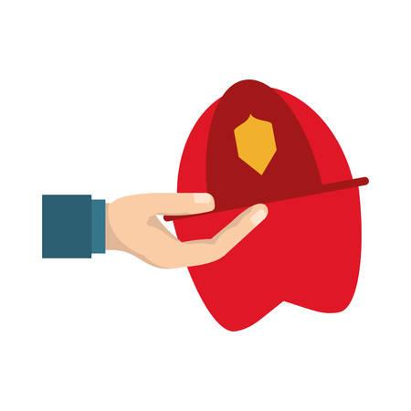 Firefigther helmet cartoon icon vector illustration graphic design