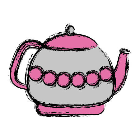 tea pot icon over white background vector illustration Illustration