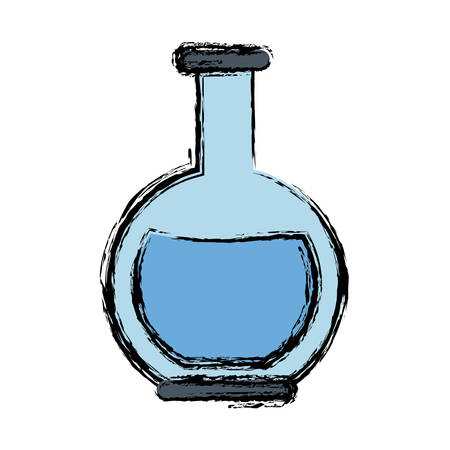 sustancias toxicas: Laboratory flask icon.