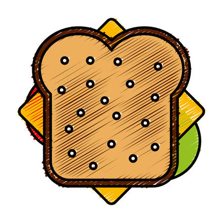 sandwich icon over white background vector illustration Illustration