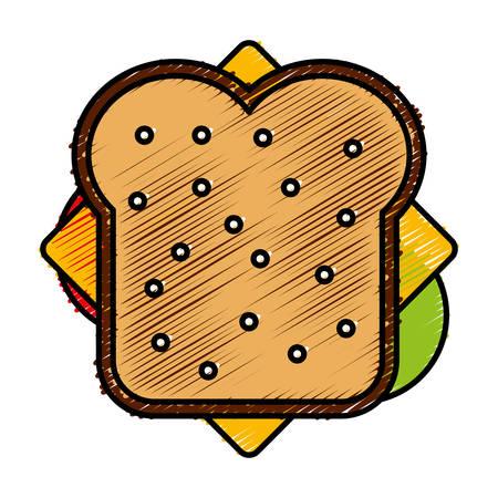 junkfood: sandwich icon over white background vector illustration Illustration