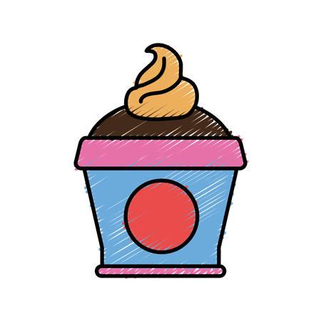 ice: ice cream icon over white background vector illustration