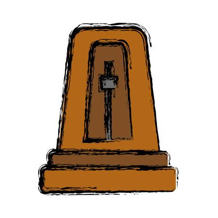 metronome: metronome icon over white background vector illustration