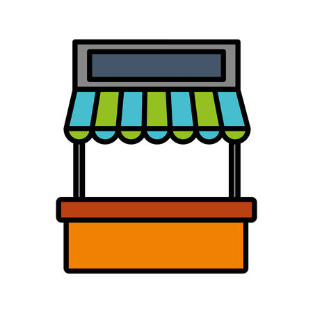 small business: store kiosk icon over white background vector illustration