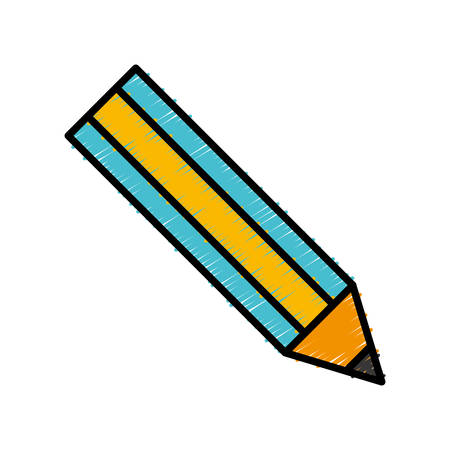 Pencil utensil icon over white background vector illustration