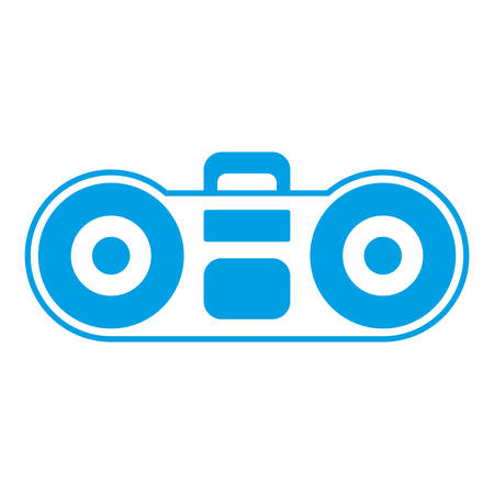Boombox stereo icon over white background vector illustration