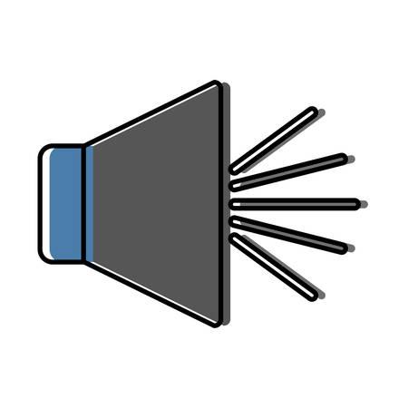Een luidsprekerpictogram over witte vectorillustratie als achtergrond