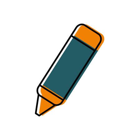 secretarial: Crayon icon illustration