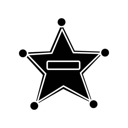 sheriff star icon over white background vector illustration
