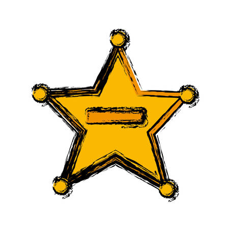 Sheriff star illustration