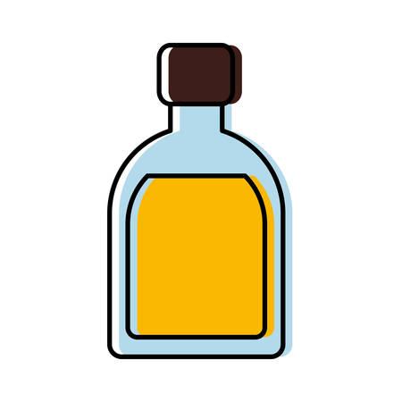 Liquor bottle icon illustration