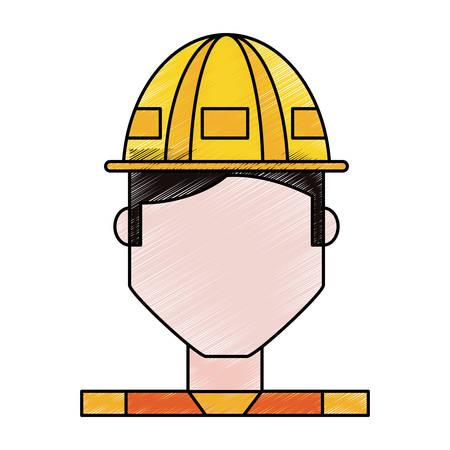 Worker profile cartoon icon vector illustration graphic design