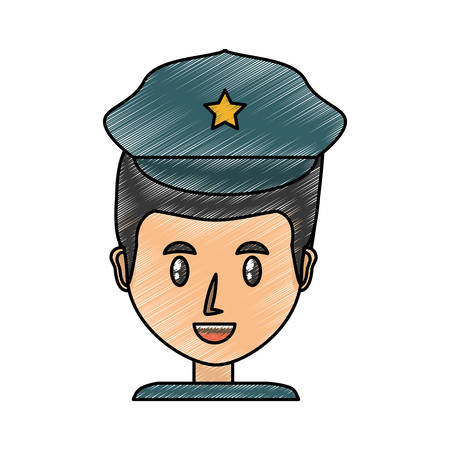Police officer cartoon icon vector illustration graphic design Illustration