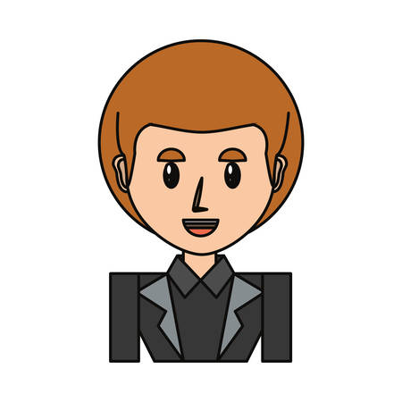 Businessman profile cartoon icon vector illustration graphic design